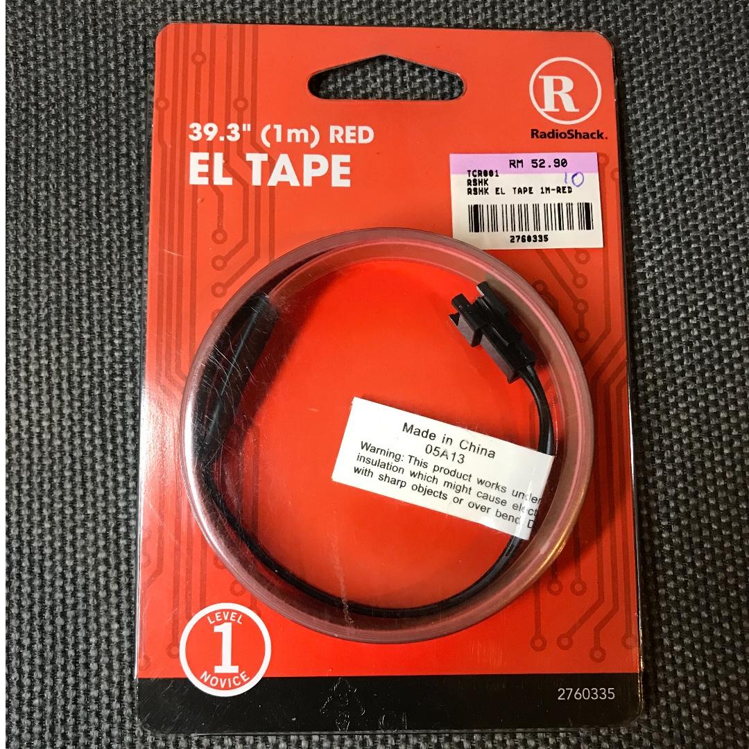 1 Meter EL Tape (Red Colour) by RadioShack
