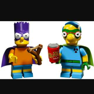 Lego Minifigures Simpson Series 2 - Set Of 2