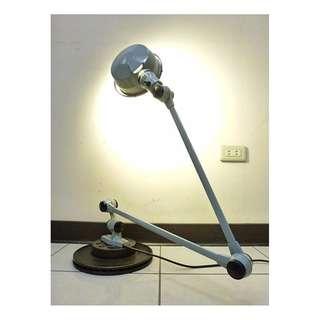 【景徽軒古傢俬】~~~ (老件) 1950 法國 Jielde古董工業燈具 2臂 / 特殊稀有款 閱讀燈 關節燈