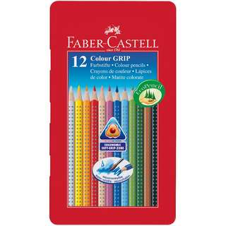 Faber-Castell Grip Colour Pencils 12L Metal Tin (FSC) (112413)