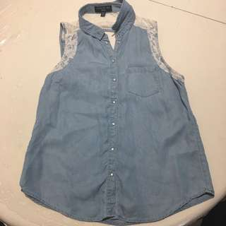Forever New Denim Lace Shirt