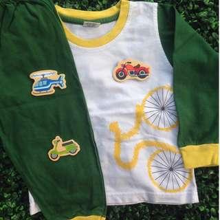 COLOR MIX (Green/Yellow) Pyjamas