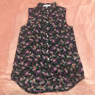 RAMADHAN SALE! NEW LOOK - Floral Tank Blouse (Tank Top Kemeja)