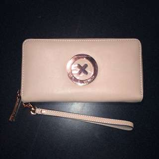 MIMCO Nude/Rose Gold Supernatural Zip Wallet