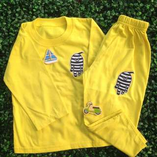 UNBRANDED (Yellow) 2-Piece Set