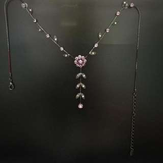 復古風花花頸鏈 Retro / vintage purple necklace