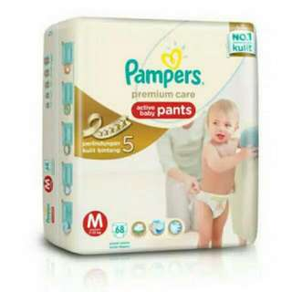 Pampers Premium Pants M 68 / Pampers Celana Size M Isi 68