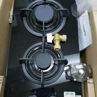 全新煤氣雙頭爐