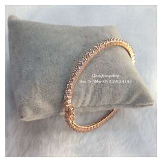 Eternity Diamond Full Stoned Bangle In Rose Gold