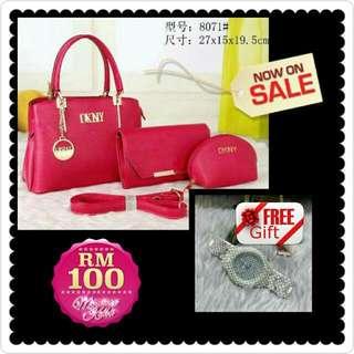 Bag Dan Free Gift Jam Tangan