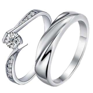 925 Genuine Silver Couple Ring C58