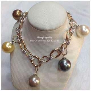 Maurica Pearl Charm Bracelet