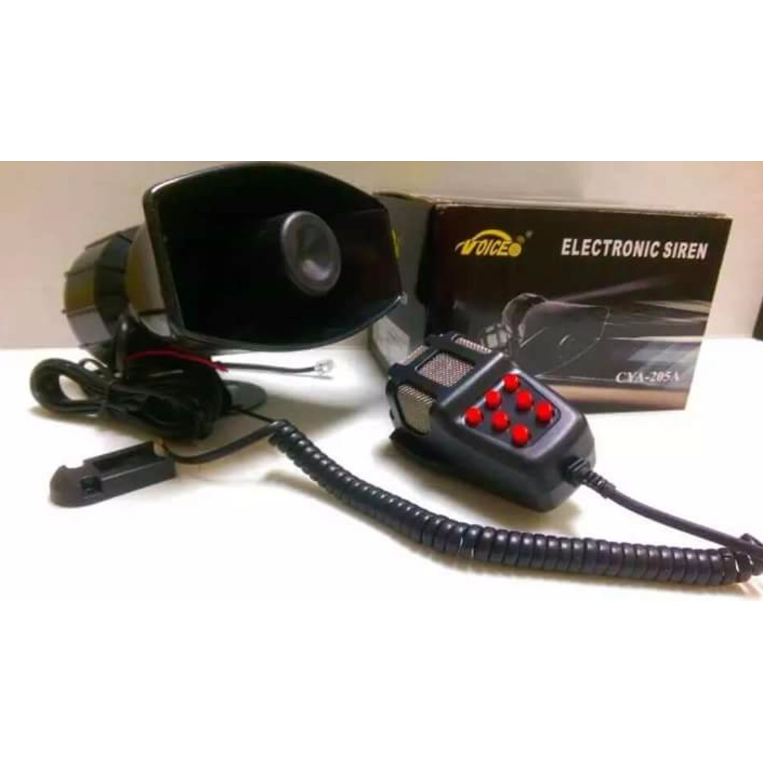 7 Tone Police Siren With Talking Mic 100 Watts Loud Model Auto Electronic Accessories On Carousell