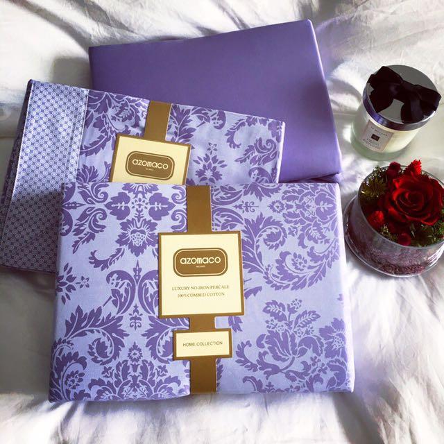 知名專櫃法蝶寢具✨標準床型、加大床型、紫色!超美的❤️