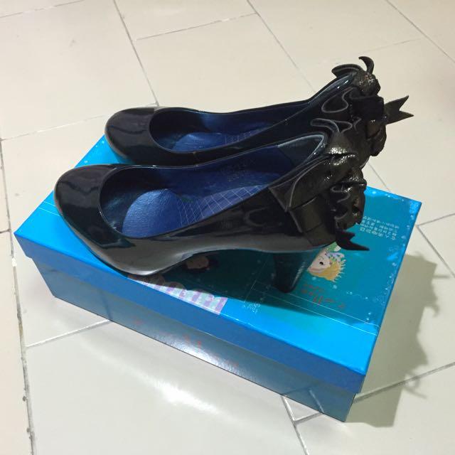 🎀 降價賠售 2 Maa Japan 金蔥蝴蝶結 深綠高跟鞋 婚鞋