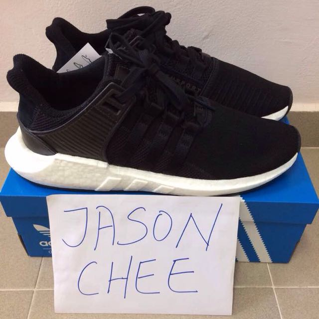 the latest abed0 19b31 Adidas EQT Support 9317 Core Black UK12, Mens Fashion, Footwear on  Carousell