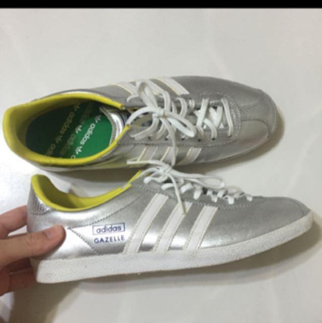 Adidas Gazelle in Silver, Women's