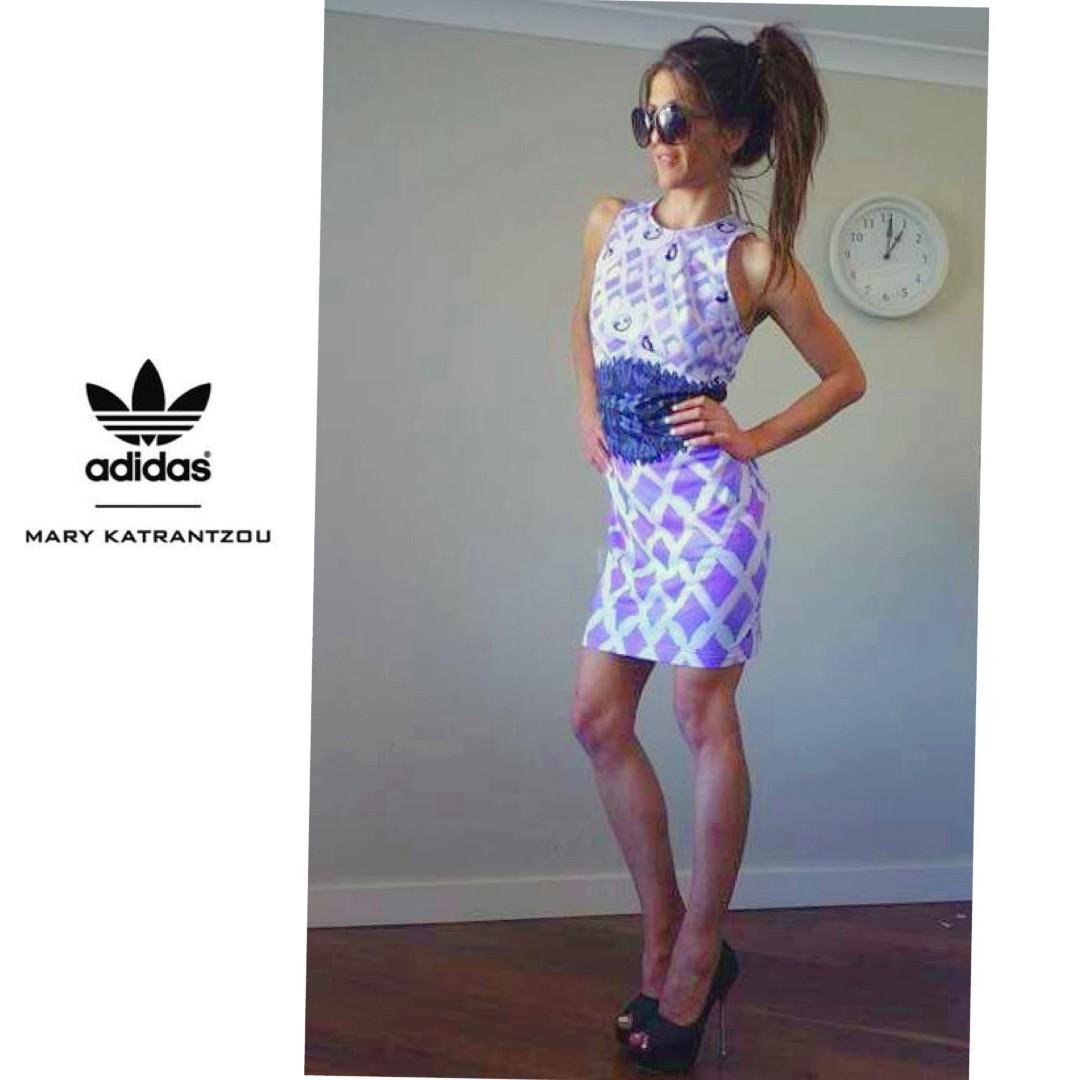 ADIDAS X MARY KATRANTZOU colab inredibly rare dress & jacket   size 8 - 10  rrp$950