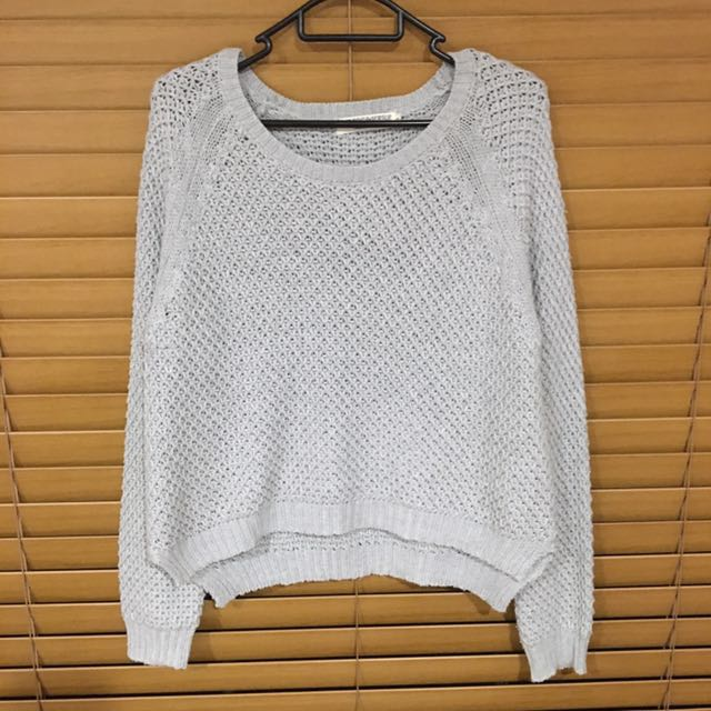 ATMOS&HERE Cropped Knitted Jumper