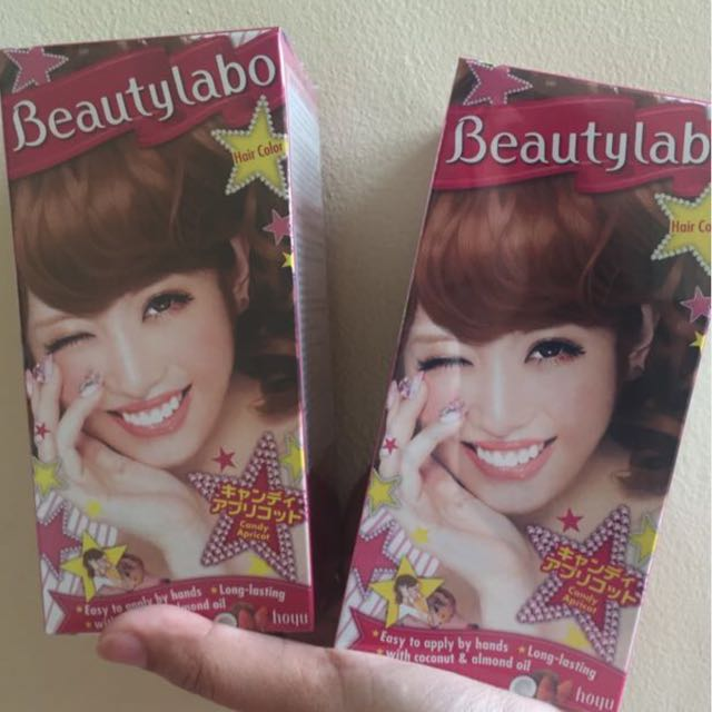 BEAUTY LABO CAT RAMBUT HAIR COLOUR CANDY APRICOT