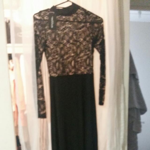 Black Lace Maxi Formal Bodycon