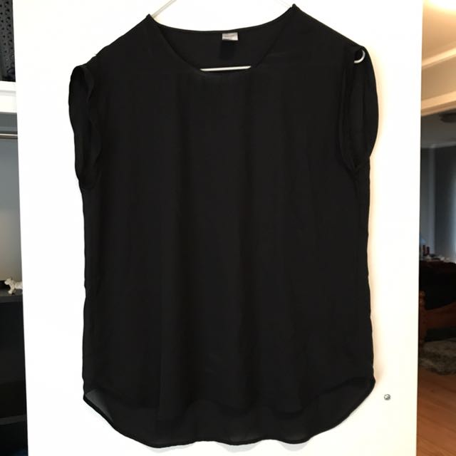 Black Tshirt Blouse