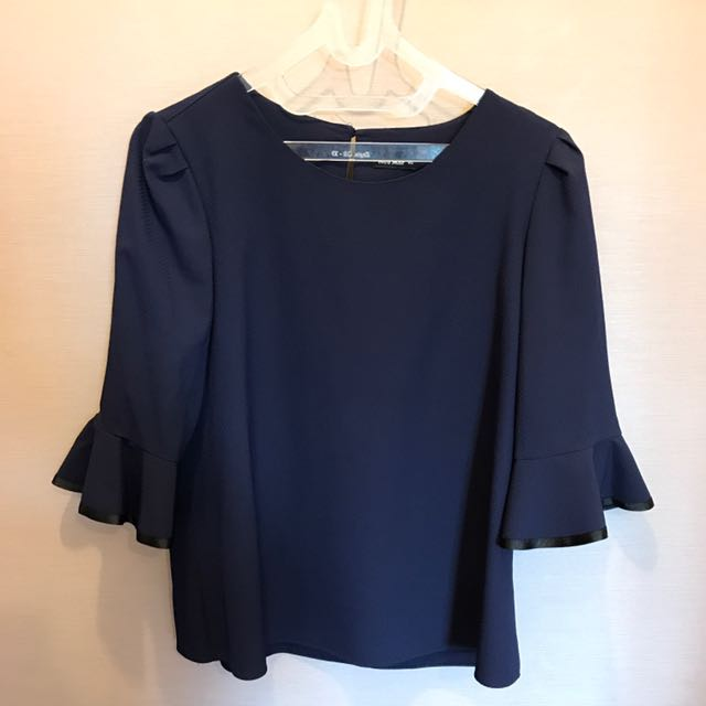 Blouse In Blue Navy