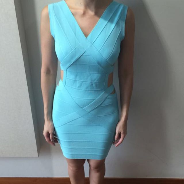 Blue Bandage Dress