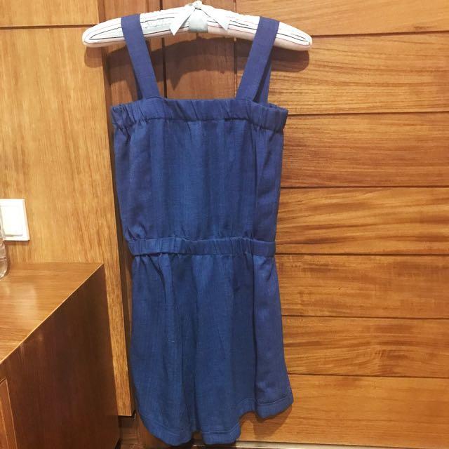 Blue Linen Jumpsuit