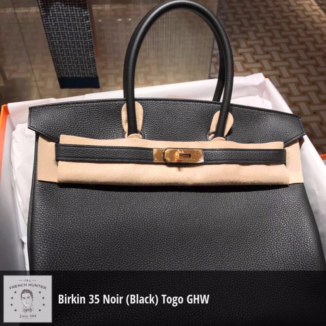 cb858061c01 BNIB Hermès Birkin 35 Noir (Black) Togo Gold Hardware GHW A Stamp ...