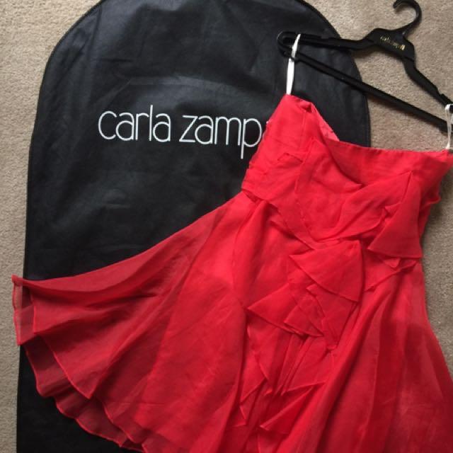 Carla Zampatti Red Flower Dress sz 8