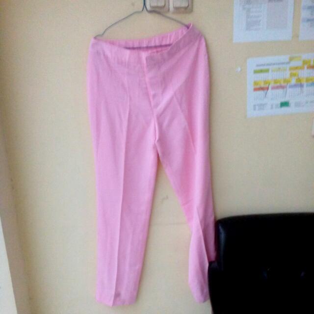 Celana Panjang Soft Pink