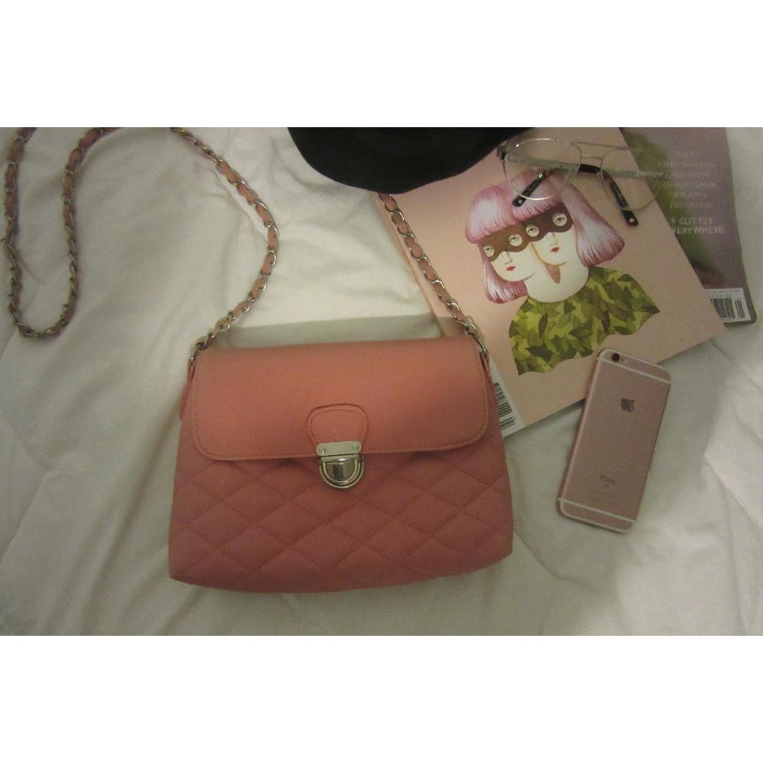 Colette blush pink handbag
