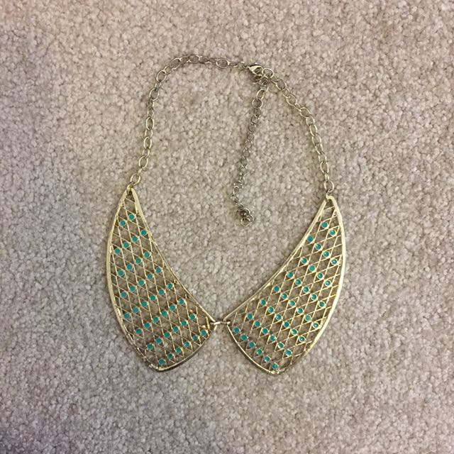 Collar Gold/green Necklace