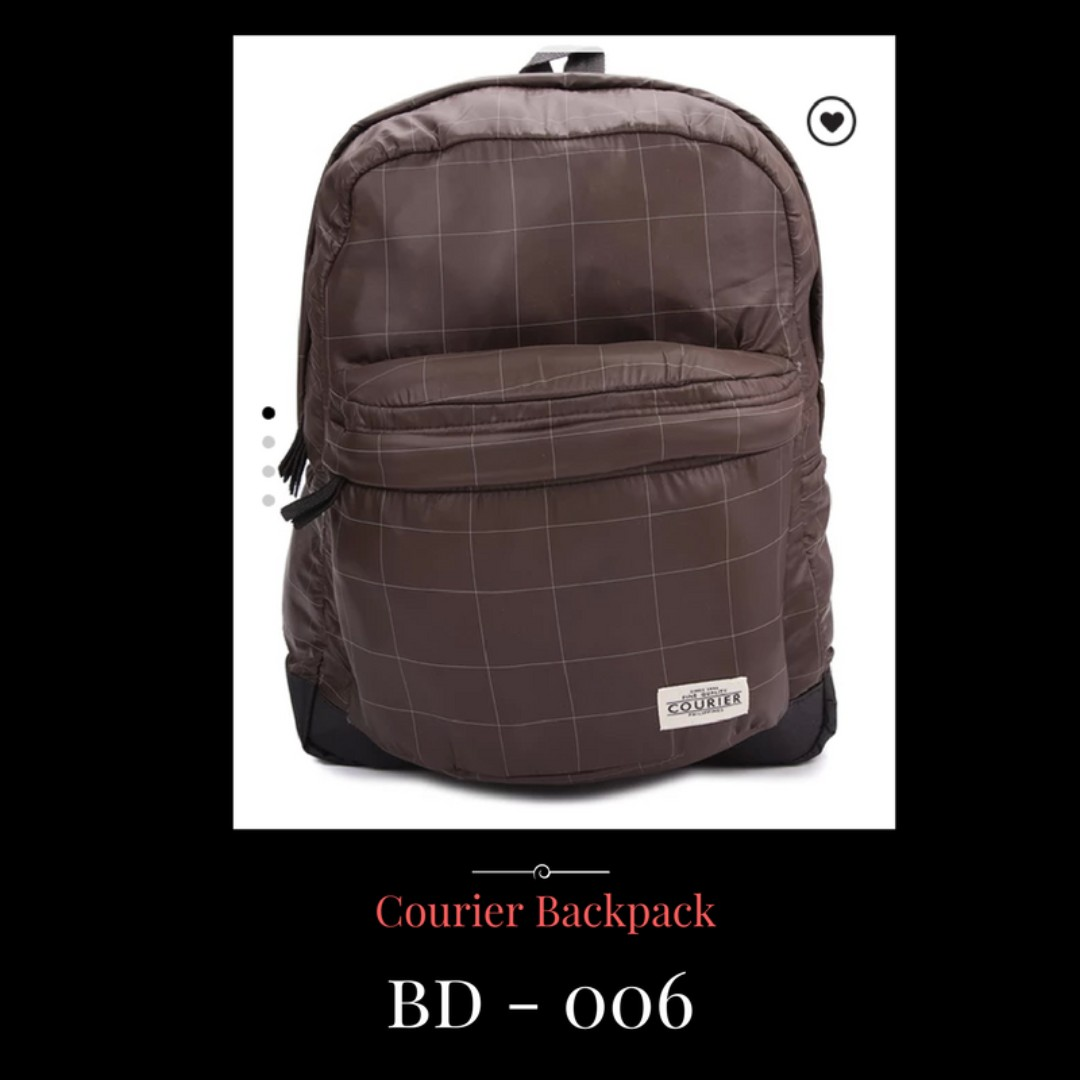 Courier Backpack Bags - Water Resistant, Shockproof
