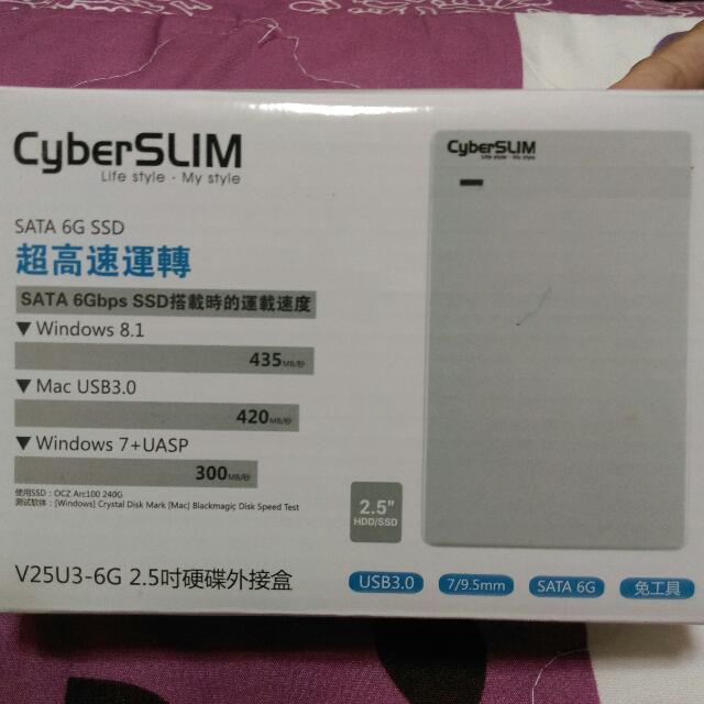 ★免運★CyberSLIM V25U3 2.5吋 硬碟外接盒/白