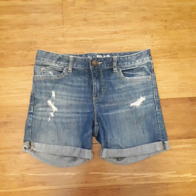 Distressed Gap Denim Shorts