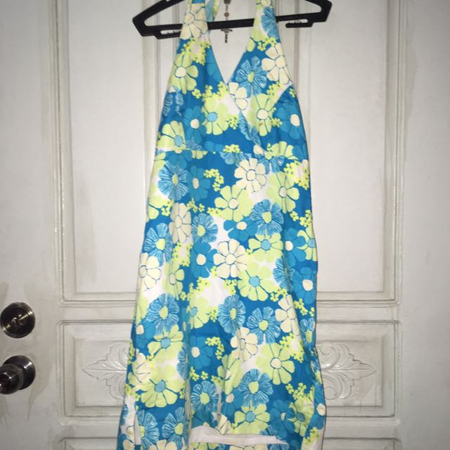 floral backless dress