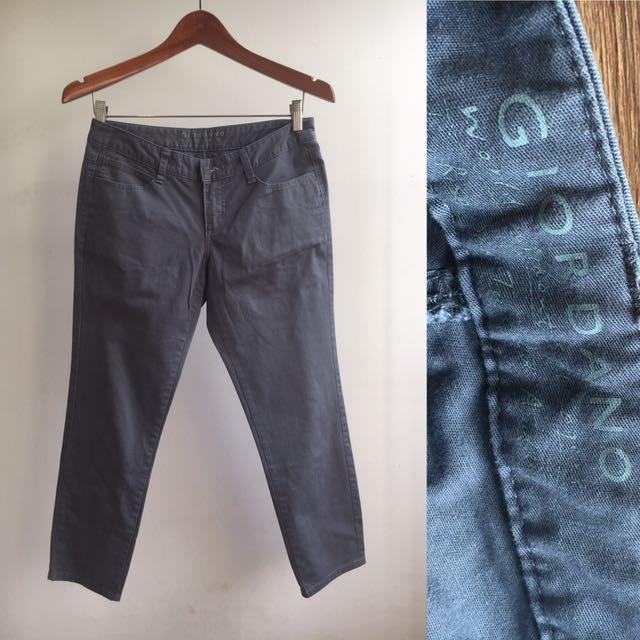 Giordano Grey Crop Pants