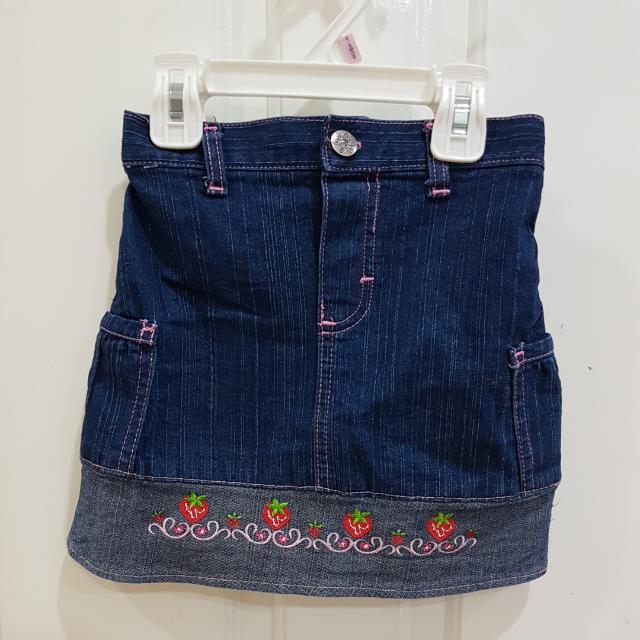 [REPRICE] Girl's Demin Skirt Rok Jeans 4-5 Tahun