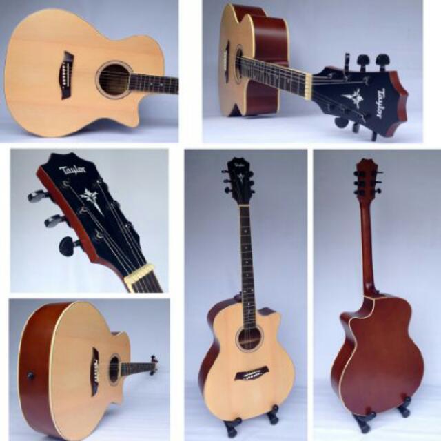 Gitar Akustik Model Taylor Natural Musik Media Alat Di Carousell