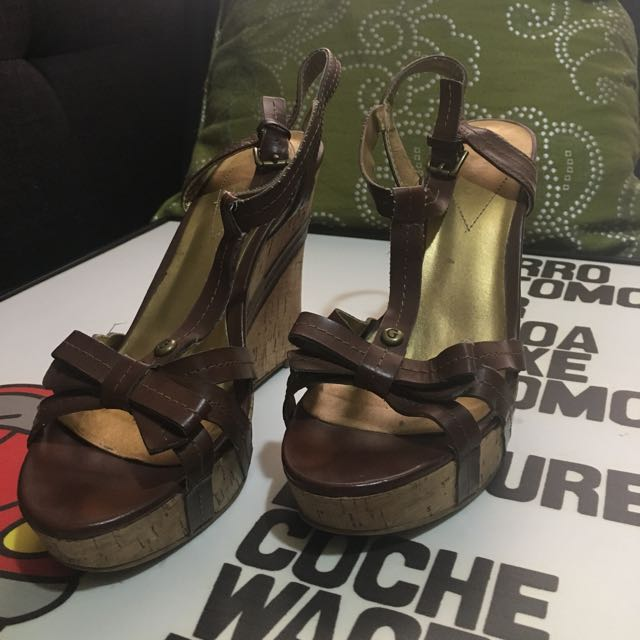 Guess Wedge Sandals Size 7