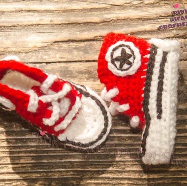 Handmade Crochet Converse
