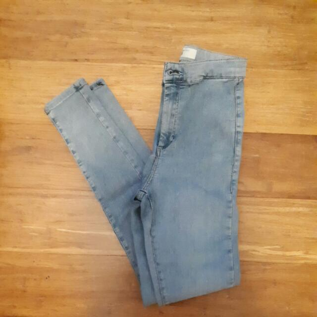 High Waisted Stretch Topshop Jeans