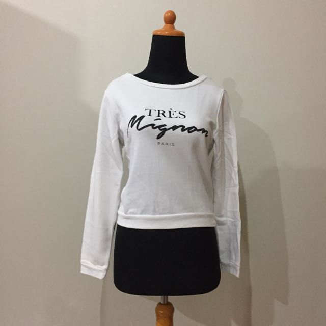 "H&M DIVIDED - ""Tres Mignon"" Sweater"