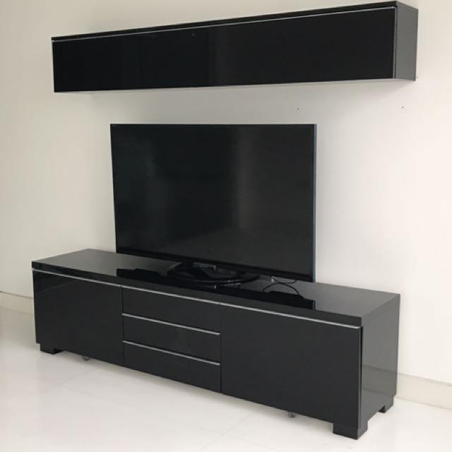 Ikea Besta Burs Tv Meubel Rood.Ikea Besta Burs Tv Media Cabinet On Carousell