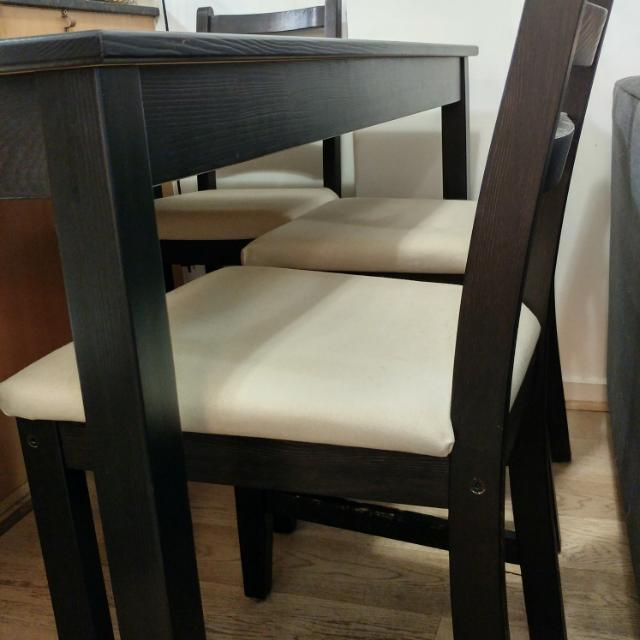 IKEA Lerhamn 4 Chair Dining set