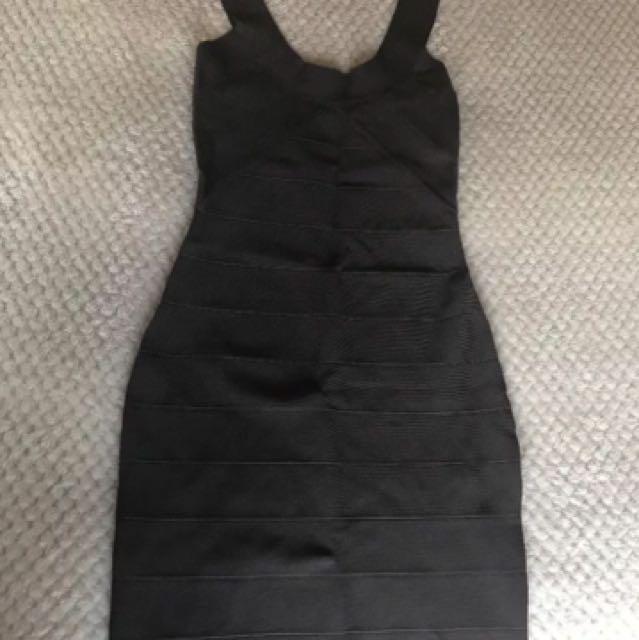 Kookai Charcoal Bandage Dress 1