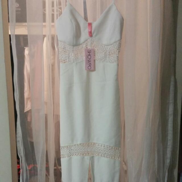 Lace Midi Dress Bodycon Showpo