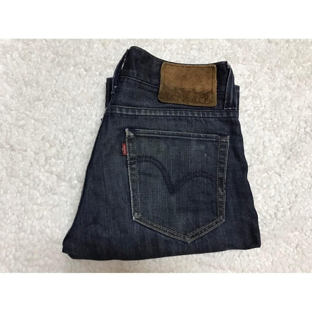 LEVI'S LEVIS PR601-0001 W30 L34 深藍直筒牛仔褲 501 502 505 523 522